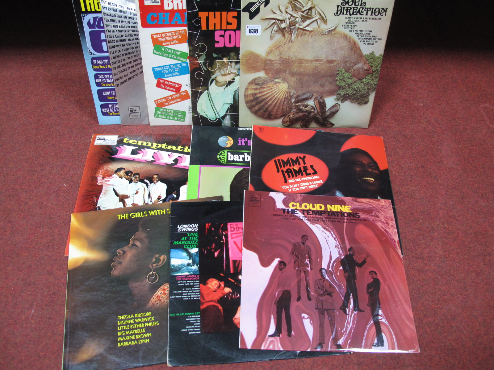 Lot 638 - Soul LP's - Barbara Lewis 'It's Magic' (Atlantic), Temptations 'Live' (Tamla, Stereo), 'Cloud