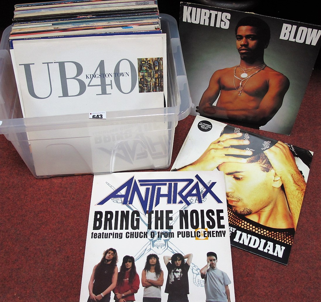 """Lot 643 - A Mixed Collection of LP's, 12"""" Singles, to include Tommy Boy 'Power Jam '85', Grace Jones(pre-"""