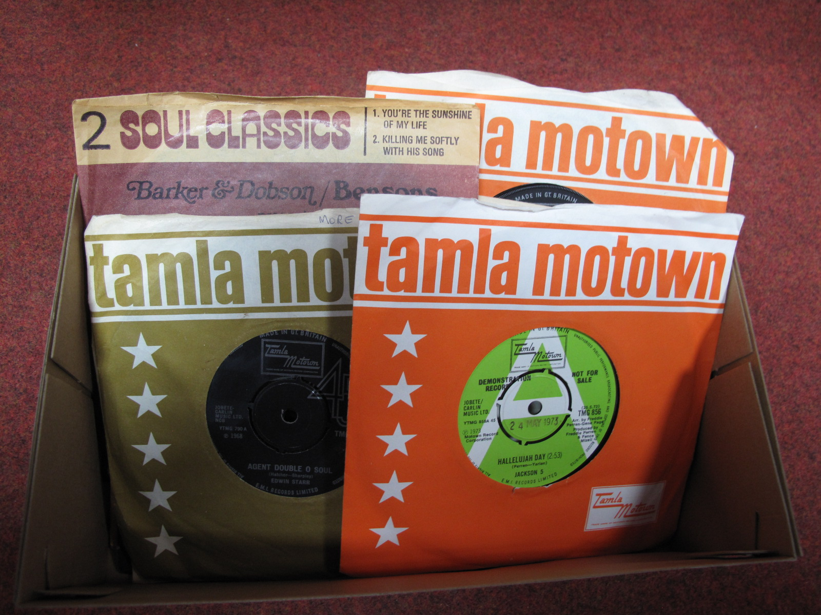 Lot 616 - Soul Interest - A Small Collection, to include Jackson 5 'Hallelujah Day' (demo), Narvel Felts (