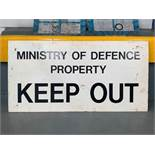 Ministry of Defence Property Keep Out Vintage metal Sign