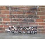2 modern perspex Rolls Royce retailer display signs