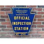 Pennsylvania Department of Transportation Official Inspection Station sign