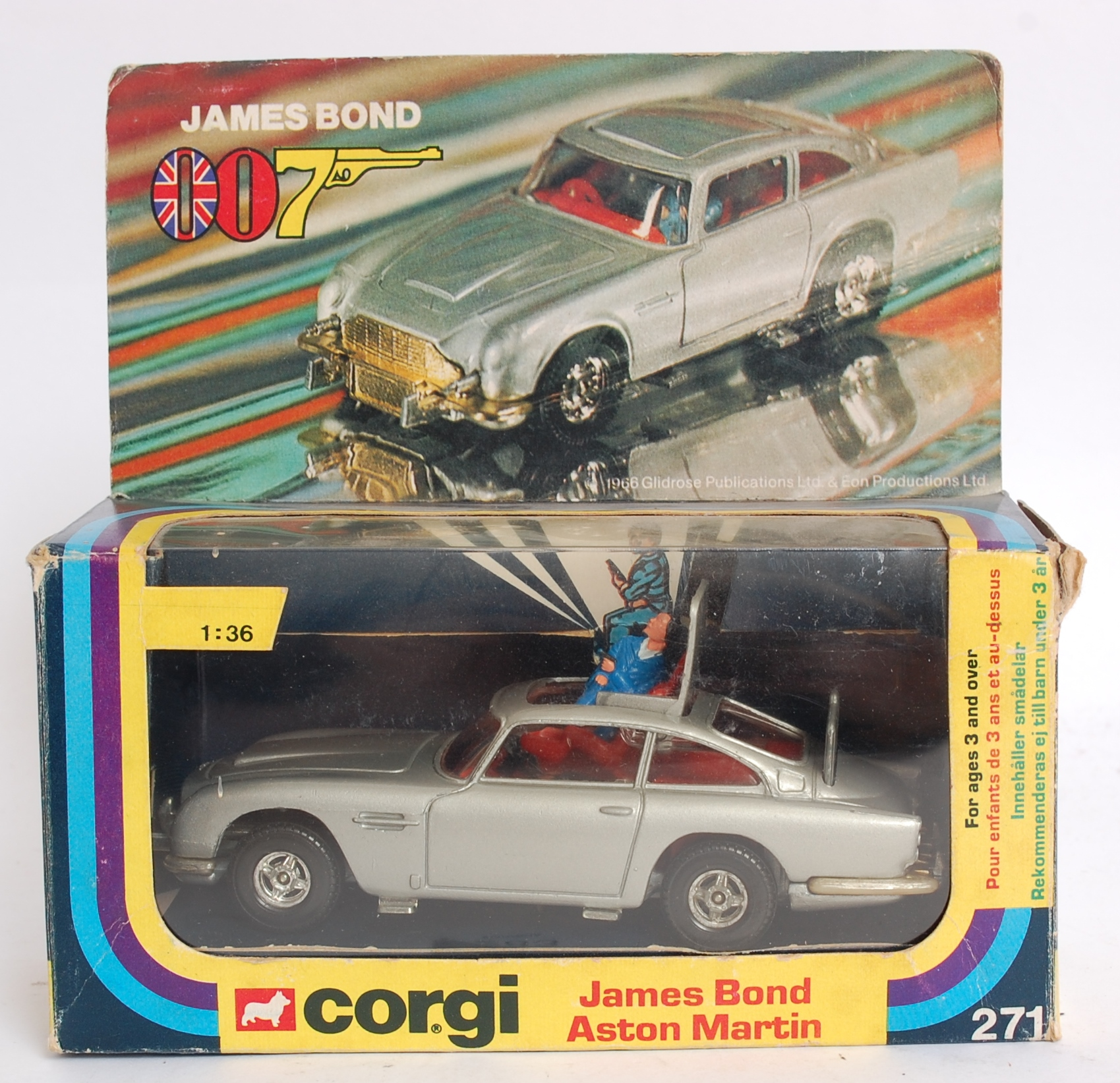 corgi james bond; an original corgi 271 james bond 007, aston
