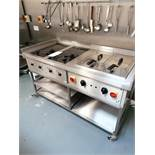 Target Catering, Twin Induction hob + twin deep fat fryer, Serial No. 12107-1112