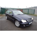 Lot 9 - SUPERB 2005/05 REG BLUE MERCEDES C220 CDI ELEGANCE SE AUTOMATIC *NO VAT*