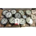 11 x Various Wika pressure gauges - as pictured