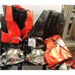 Quantity of breathing apparatus incl: vests and cylinder backpacks