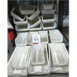 24 x Barton stackable tote bins - sizes: 3 & 4