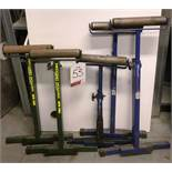 5 x Various Record RPR 400 adjustable roller stands