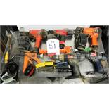 Various power tools and hand tools incl: coil nailers - as pictured
