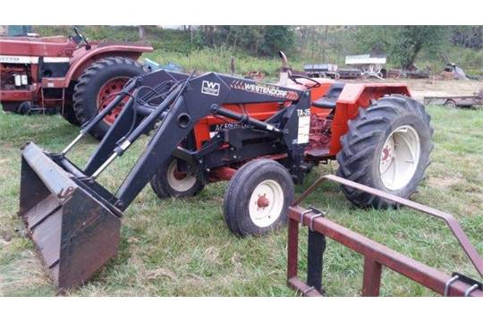 AC 5050 tractor,3450 hrs, Westendorf TA-25 loader, 13 9x28