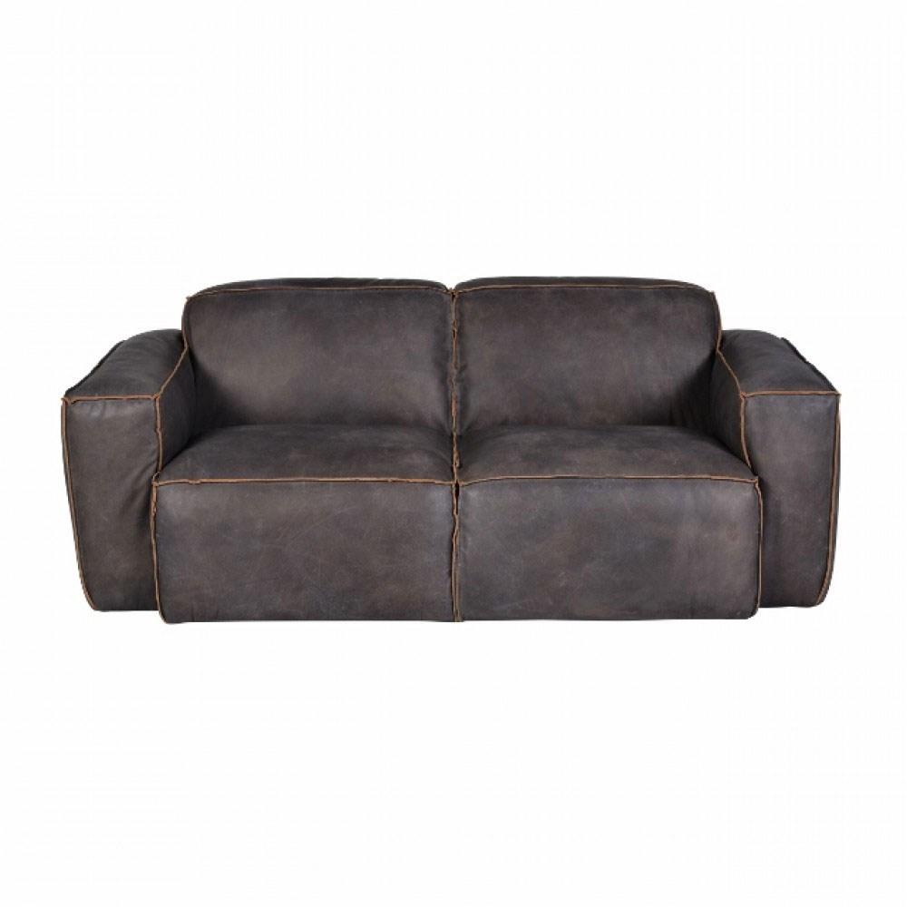 Lot 3212 - Em Buddy Med Sofa 3s-Sioux Nut & Weather Oak 224 x 101 x 67cm