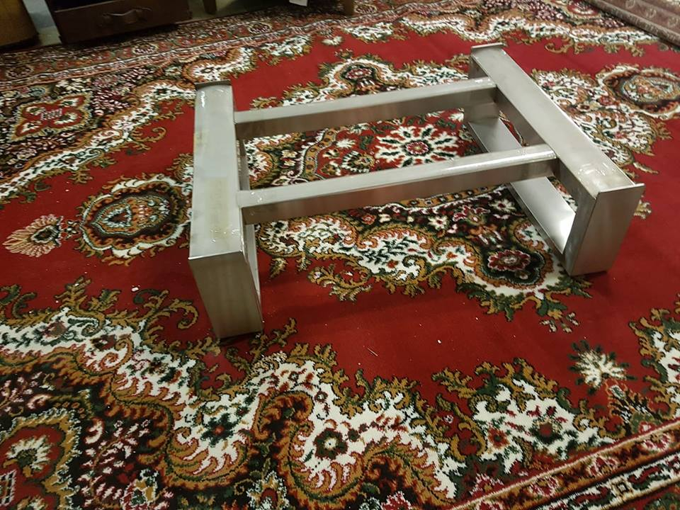 Lot 346 - Stainless Steel Coffee Table Frame 90 x 72 x 25cm