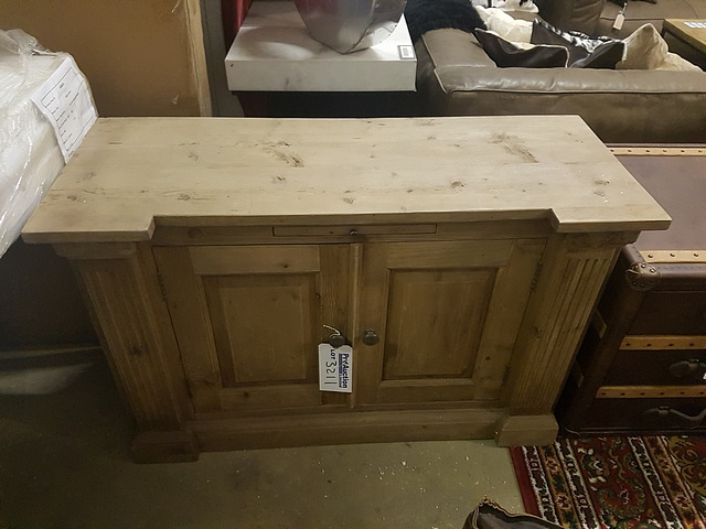 Lot 3211 - Pediment Base - Salvage Reclaimed Timber 2 doors 2 drawers