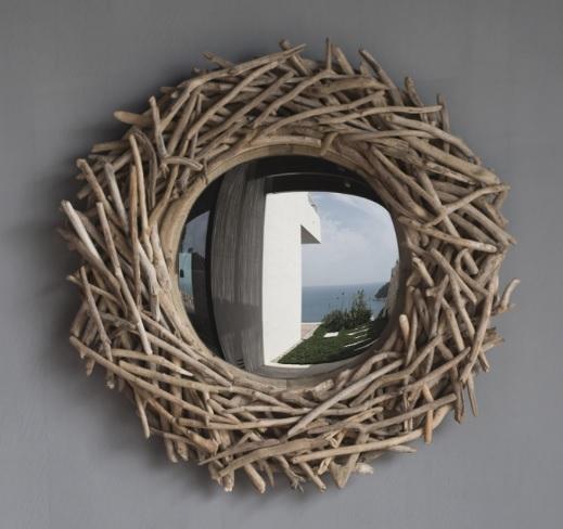 Lot 3247 - Burrow Mirror (110x110cm) Large Drift Wood 110 x 12 x 110cm