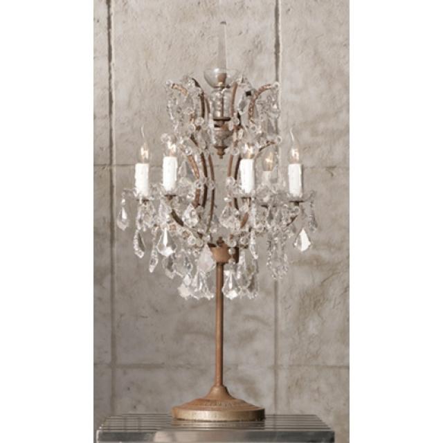 Lot 39c - Crystal Table Lamp -Antique Rust (UK) 42 x 42 x 80cm RRP £730