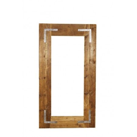 Lot 3263 - Industrial Dressing Mirror 220 x 95 Genuine English Reclaimed Timber