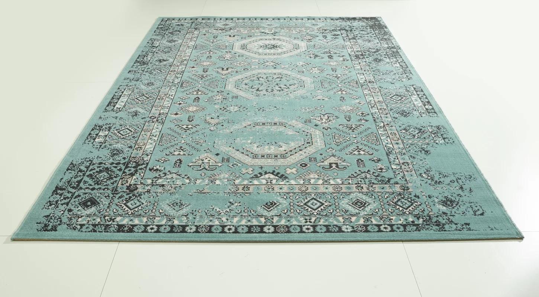 Lot 6263 - Vintage Turquoise Woven Area Rug 140cm W x 200cm L