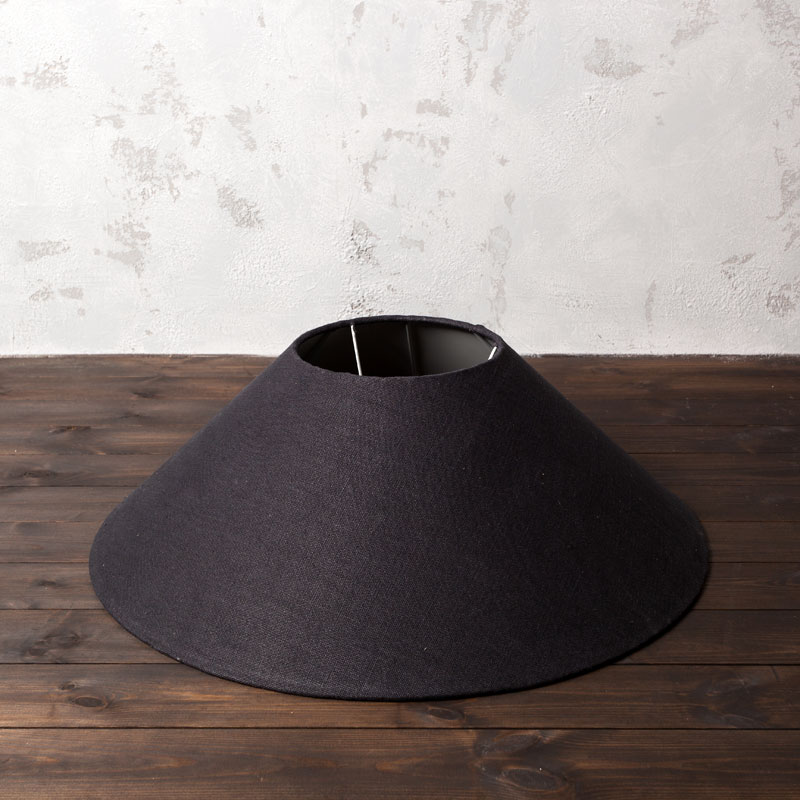 Lot 3235b - Coolie Shade Hemp Charcoal 75 5 x 75 5 x 26cm The Rounded Shape And Opal Interiors Of These Coolie