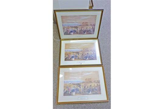3 FRAMED PRINTS OF ST. ANDREWS, OCTOBER MEETING 1862 AFTER THOMAS ...