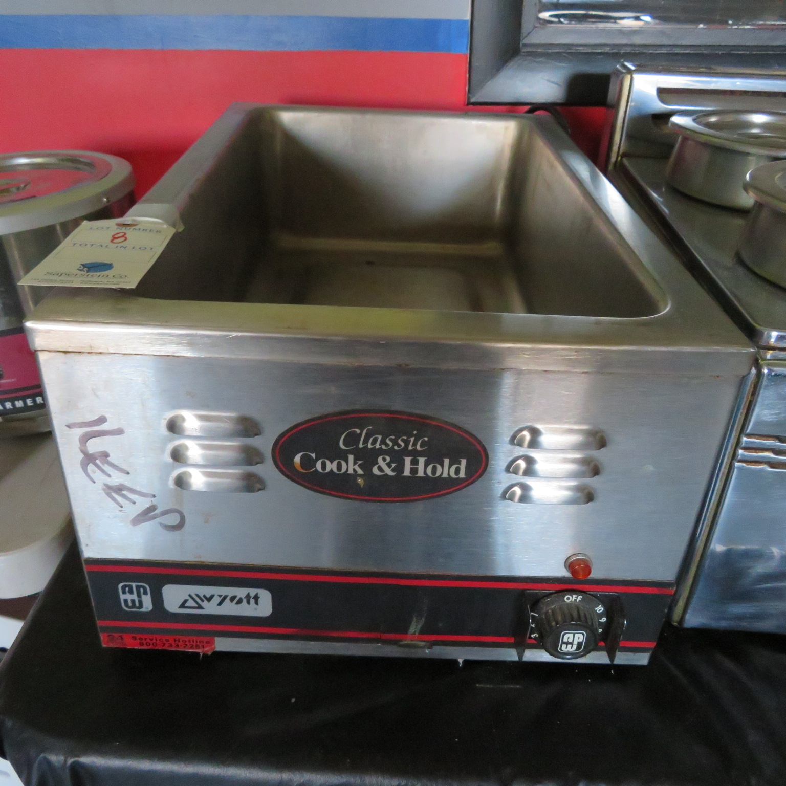 Wyott Counter Top full Pan Warmer