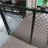 Approx 110' Of Vinyl Covered 4' High Black Chain Link Fence w/ 2 Gates