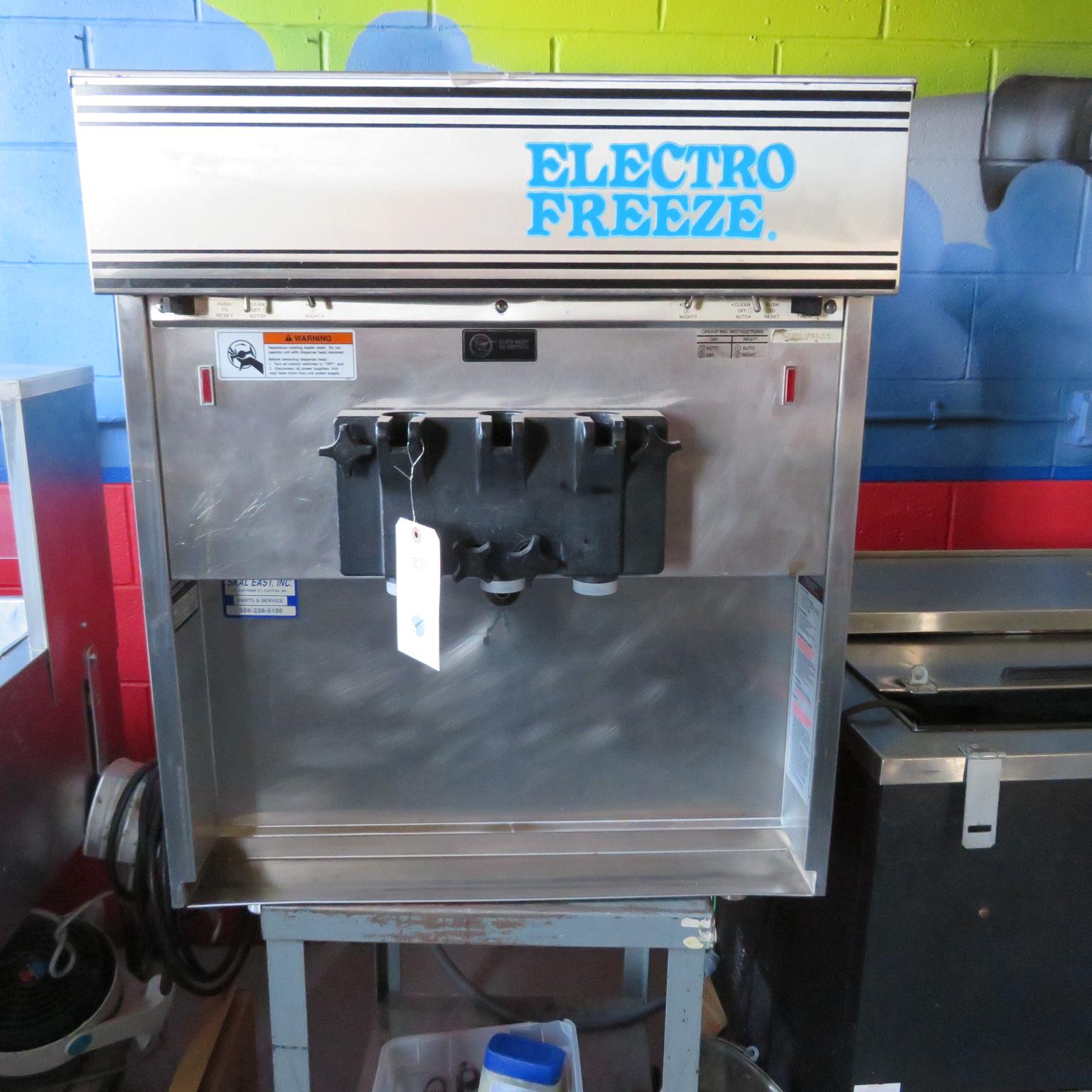 Electro Freeze #55TF-232 3 Phase 2 Flavor w/ Twist Soft Server Machine
