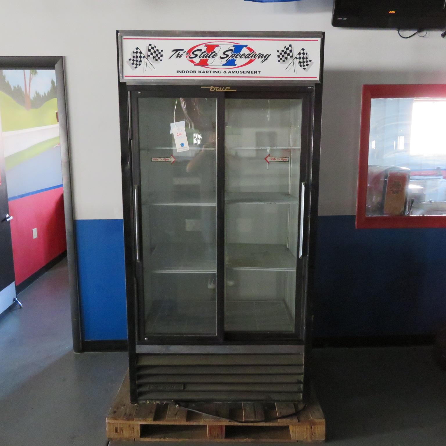 True 2 sliding Glass Door Illuminated SC Reach in Cooler