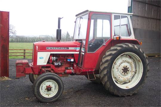 1973 INTERNATIONAL 674 diesel TRACTOR Reg. No. NCT 775M Serial No. B101221  Fitted with rear linka