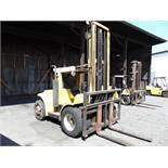 """Hyster mod. H180H, 18,000lb. LPG Forklift, 212"""" 2-Stage Mast w/ 60"""" Forks, Sideshift & Pneumatic"""