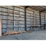 (Lot) Steel racks (no lumber)