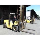"""Hyster mod. H155X2, 15,000lb. LPG Forklift, 165"""" 2-Stage Mast w/ 54"""" Forks & Sideshift, Hours: 1341;"""