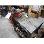 (Lot) Vise & Steel Table