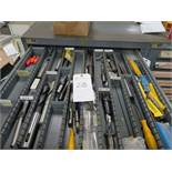 (Lot) Assorted Size Spade Drills & Boring Bars (No Drawer)