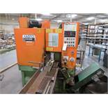 (1988) Kasto Racine Semi Automatic Cold Saw w/ Infeed & Outfeed Conveyor, RPM Adjustment; S/N n/a