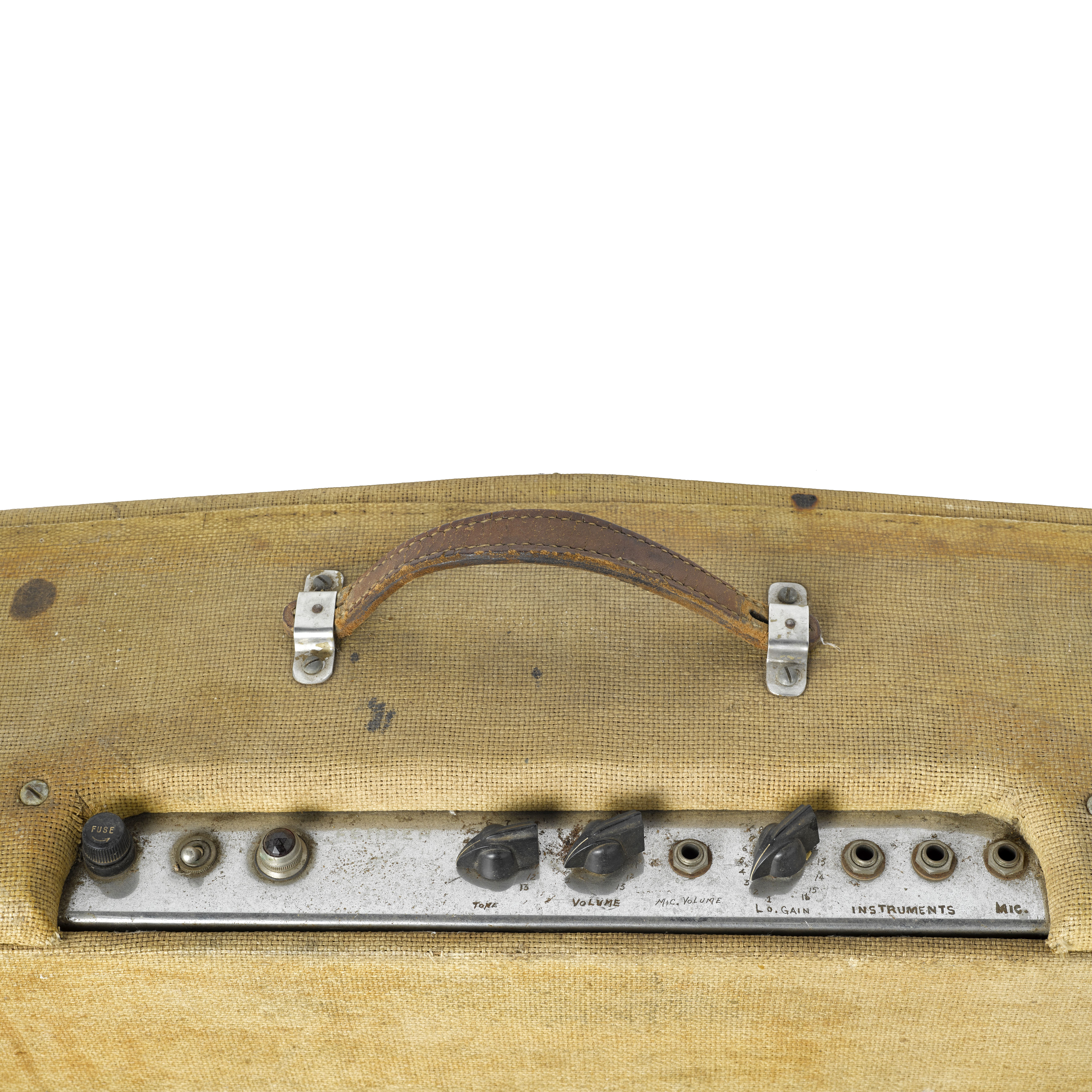 AN EARLY FENDER DUAL PROFESSIONAL SILVERFACE AMPLIFIER OWNED AND USED BY JERRY GARCIA - Image 2 of 2