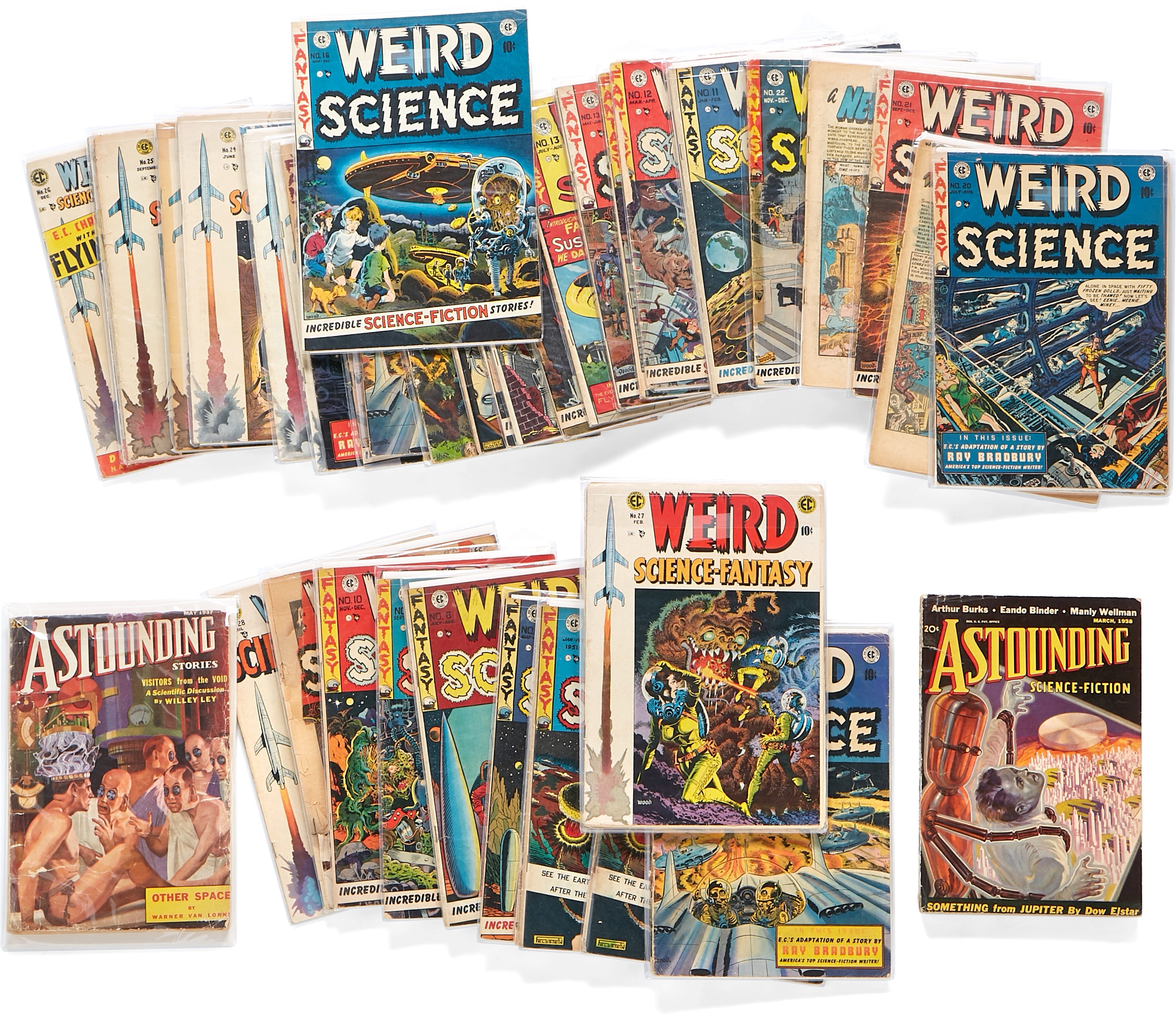 A JERRY GARCIA GROUP OF 41 WEIRD SCIENCE & WEIRD SCIENCE-FANTASY EC COMICS AND 4 ISSUES OF ASTOUN...