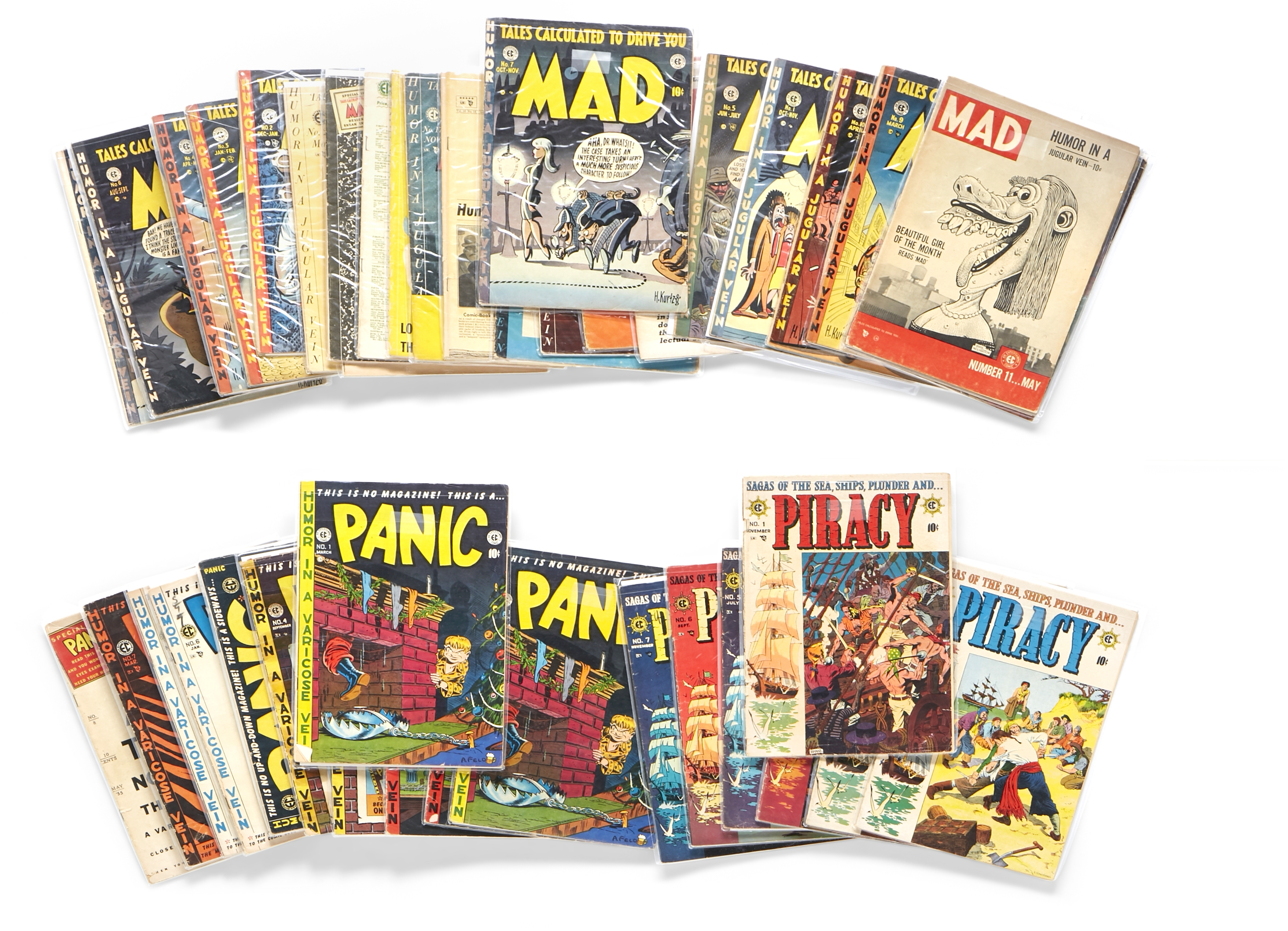 Lot 305 - A JERRY GARCIA GROUP OF MAD AND OTHER EC COMICS 1950s