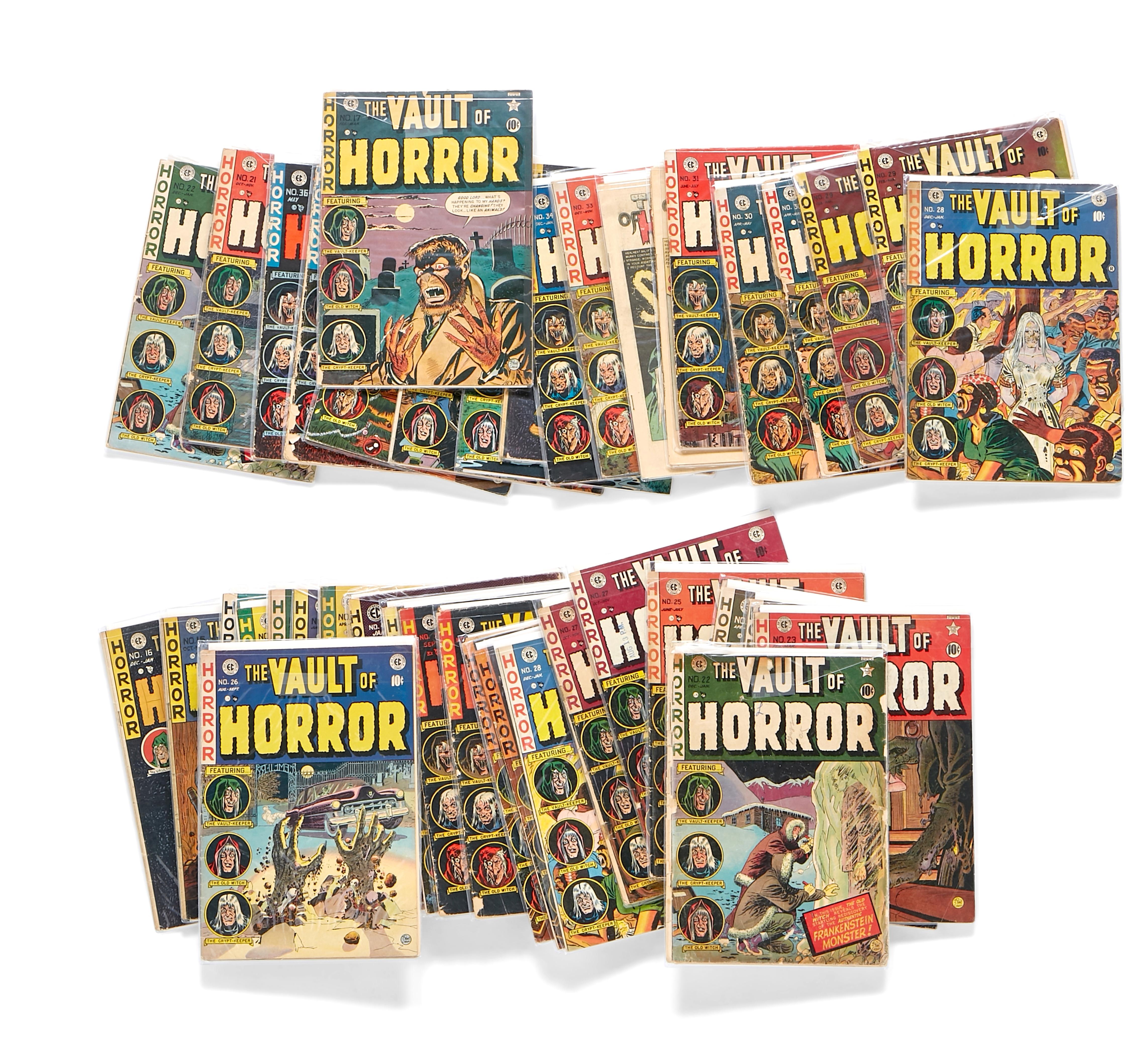A JERRY GARCIA GROUP OF VAULT OF HORROR EC COMICS
