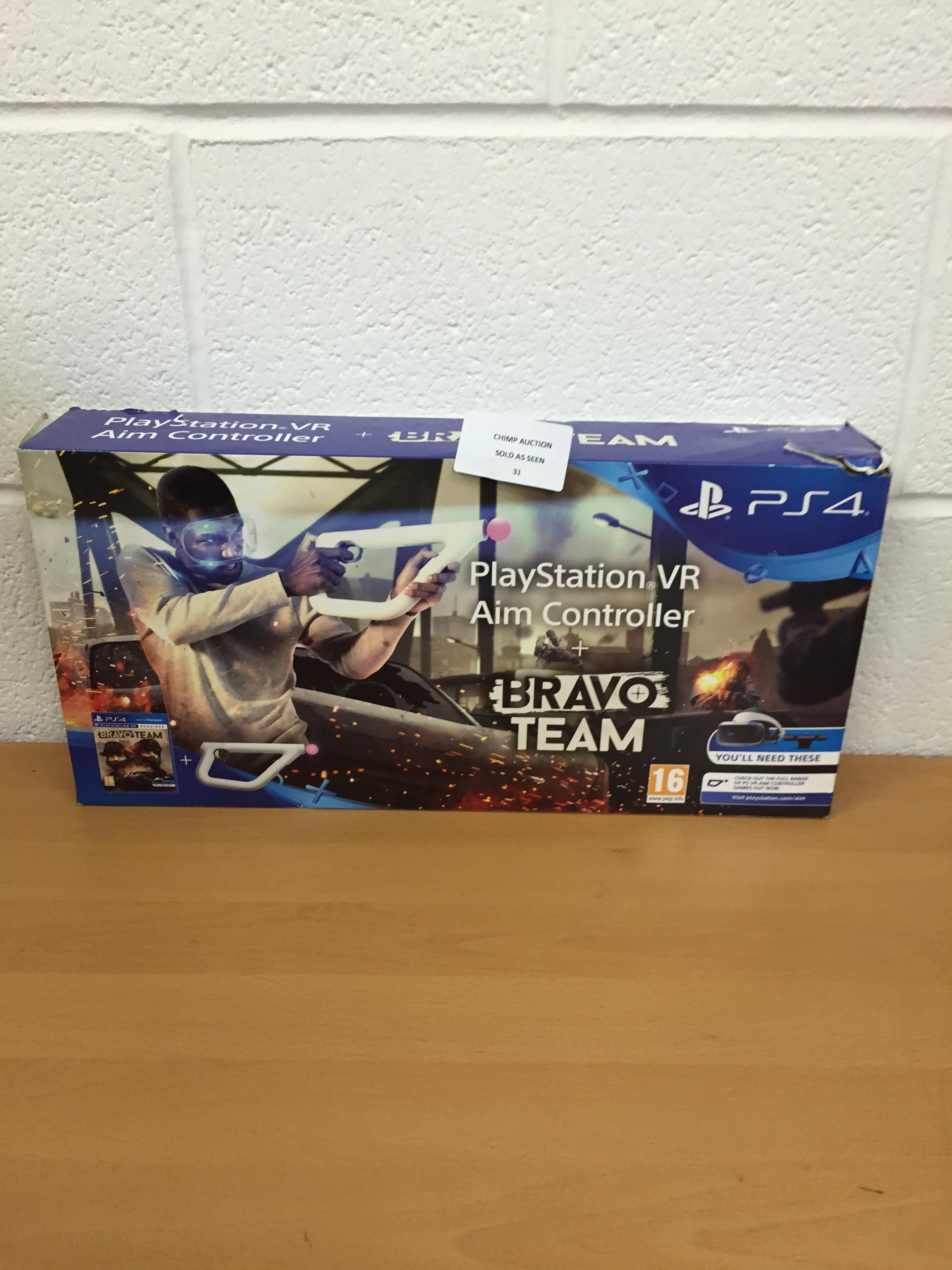 Lot 31 - Bravo Team + Aim Controller Bundle (Sony PS4 VR) RRP £119.99.