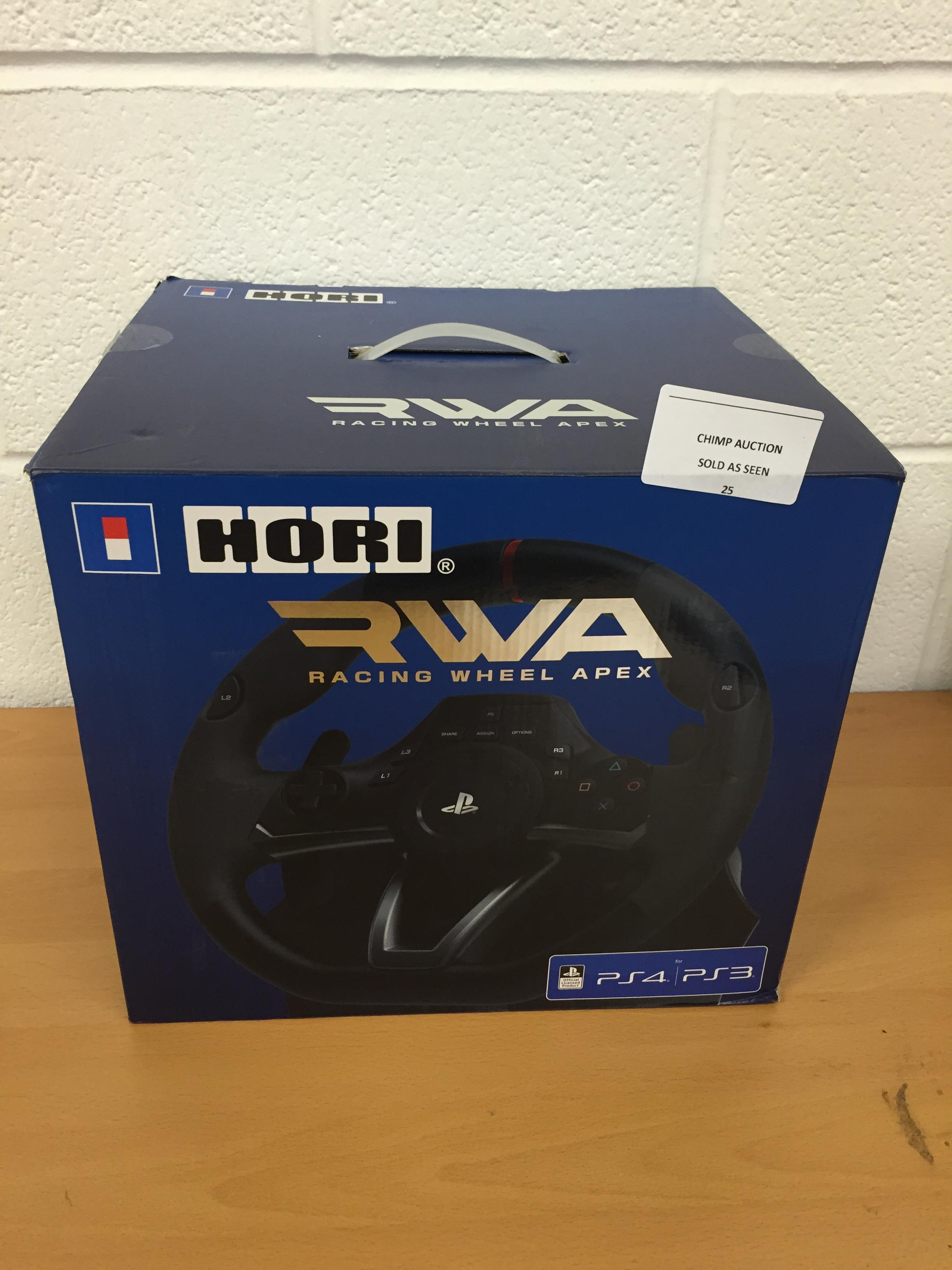 Lot 25 - Hori RWA: Racing Wheel Apex controller for PS4 and PS3 RRP £119.99