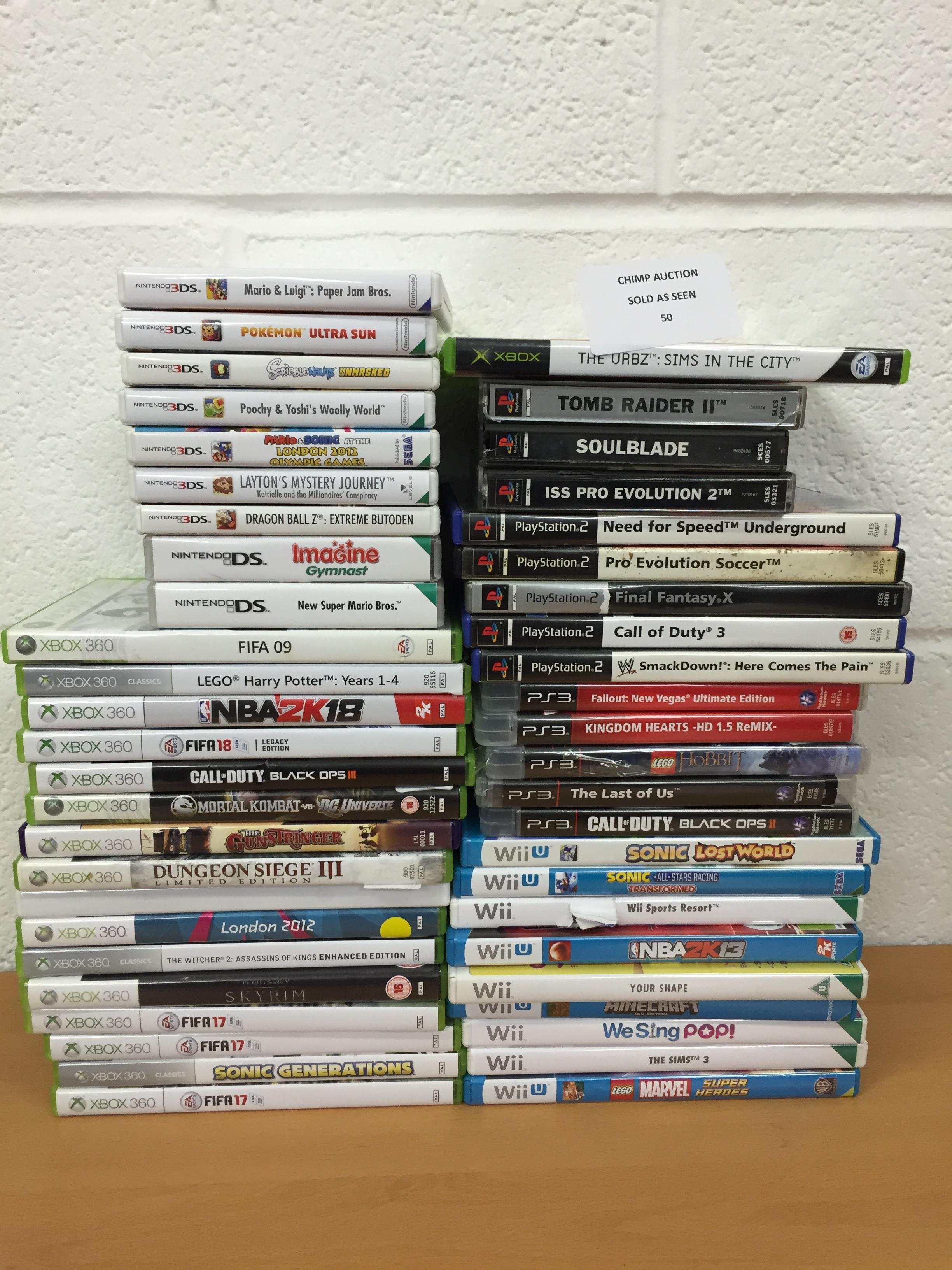 Lot 50 - Joblot of mixed console games inc Nintendo 3DS, PS3, Xbox 360 RRP VALUE £2320