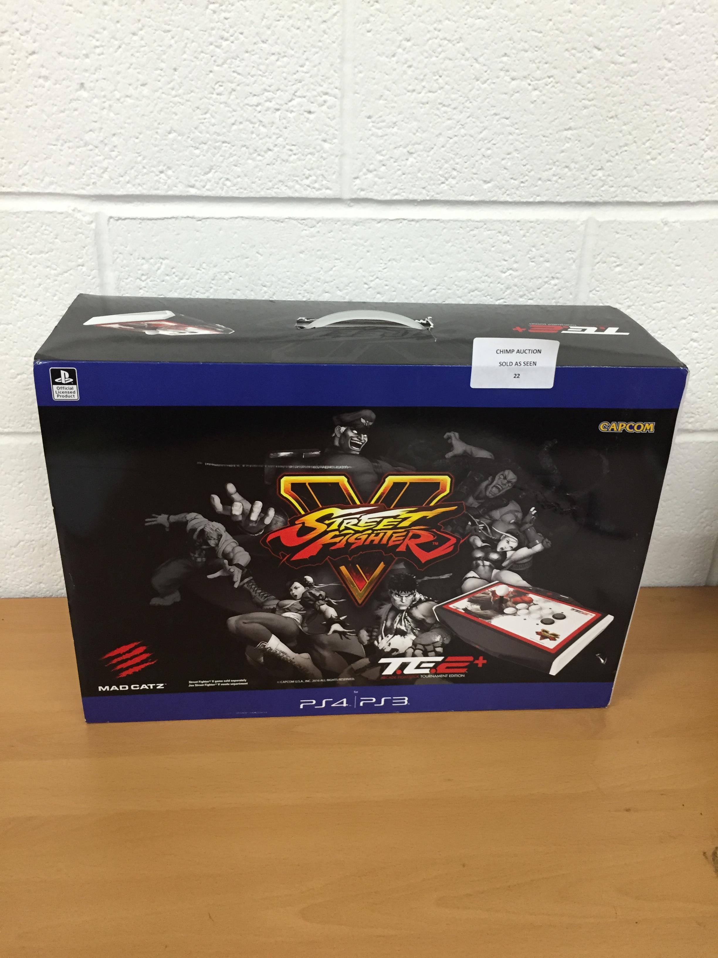 Lot 22 - Madcatz Sony PS4 SFV Arcade Fightstick TE2+ EU Ryu edition RRP £229.99.