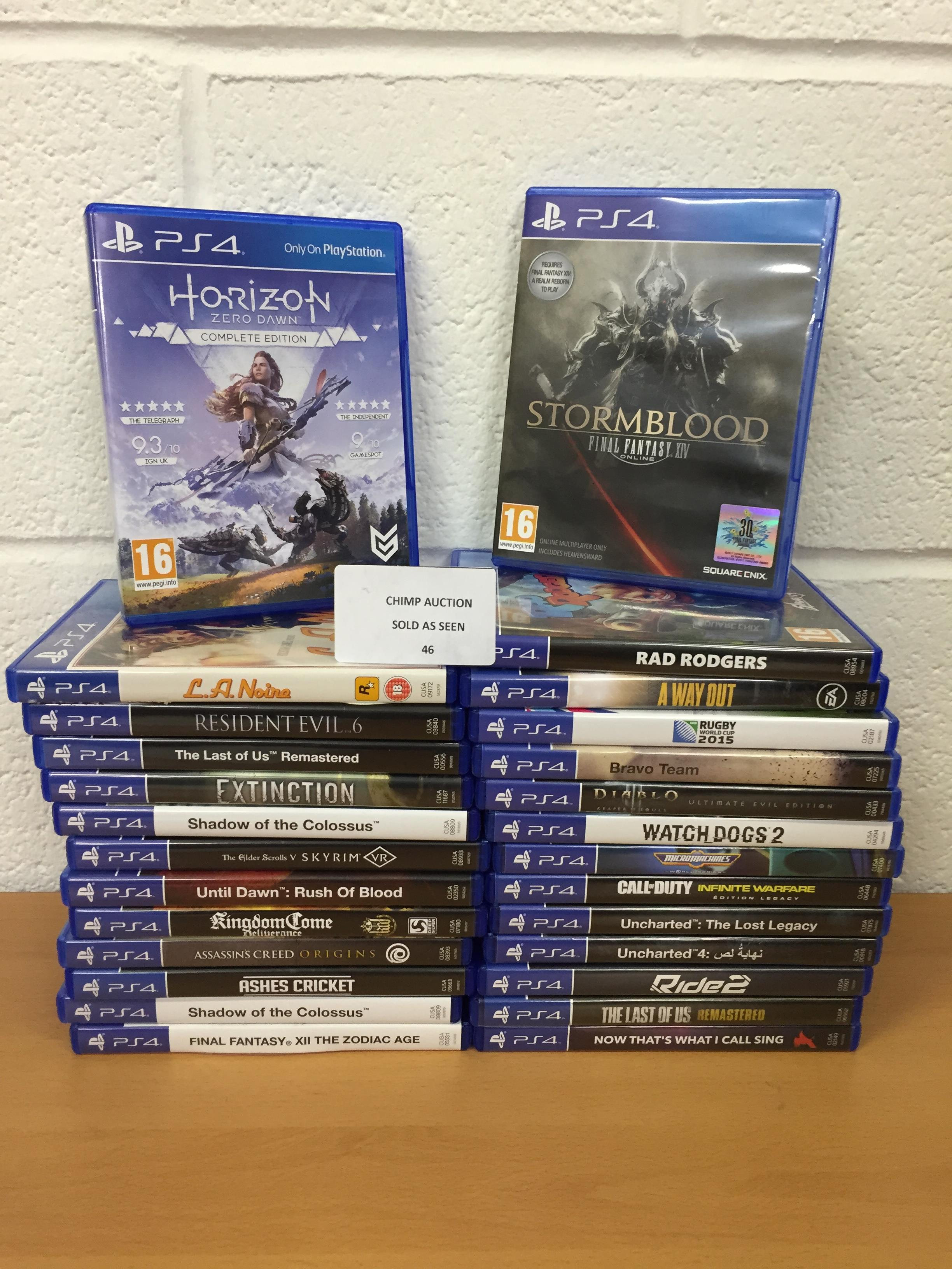 Lot 46 - Joblot of 27x Mixed Sony PS4 games RRP VALUE £1490