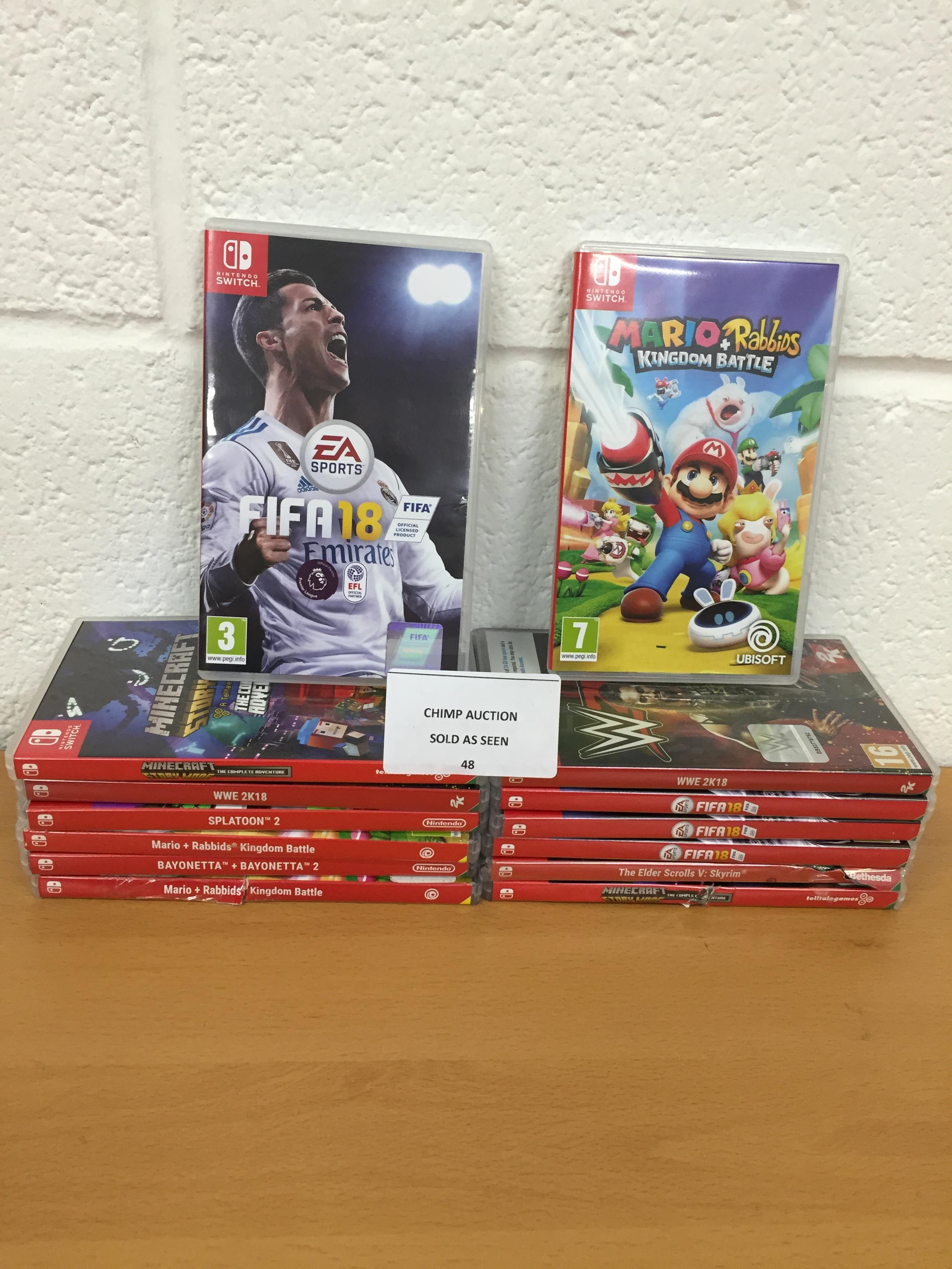 Lot 48 - Joblot of 14x Mixed Nintendo Switch games RRP VALUE £840