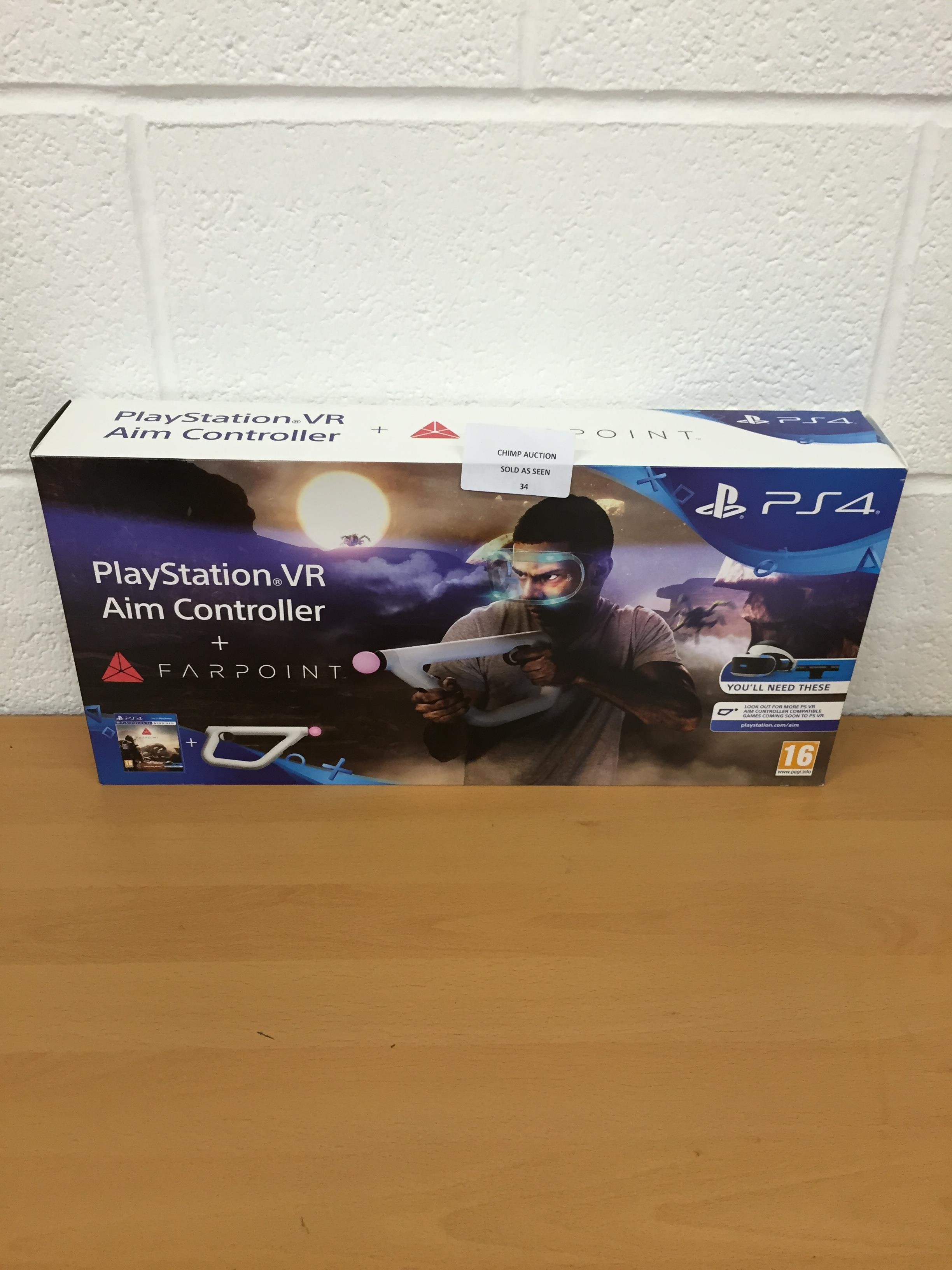 Lot 34 - FarPoint + Aim Controller Bundle (Sony PS4 VR) RRP £119.99.