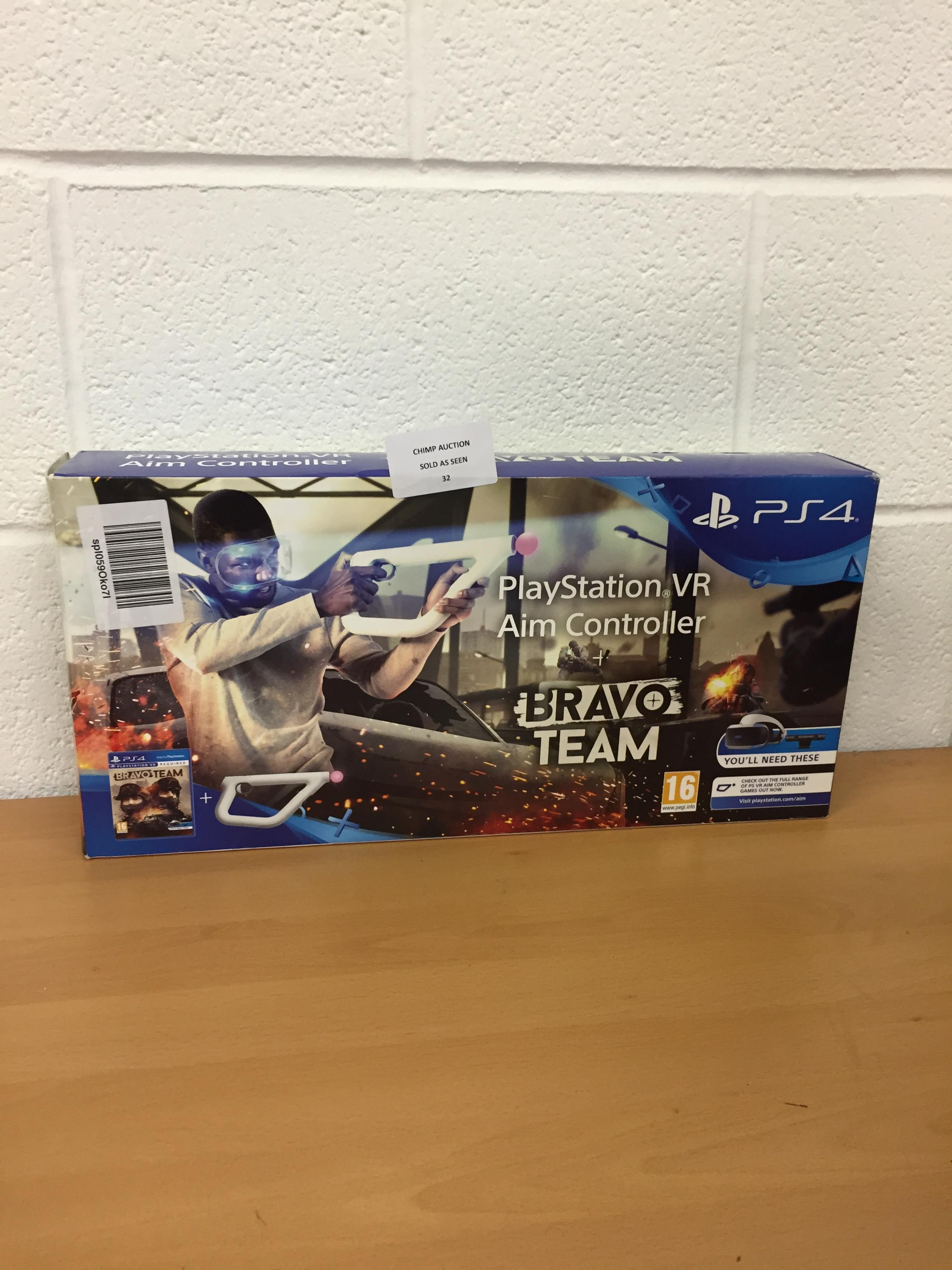 Lot 32 - Bravo Team + Aim Controller Bundle (Sony PS4 VR) RRP £119.99.