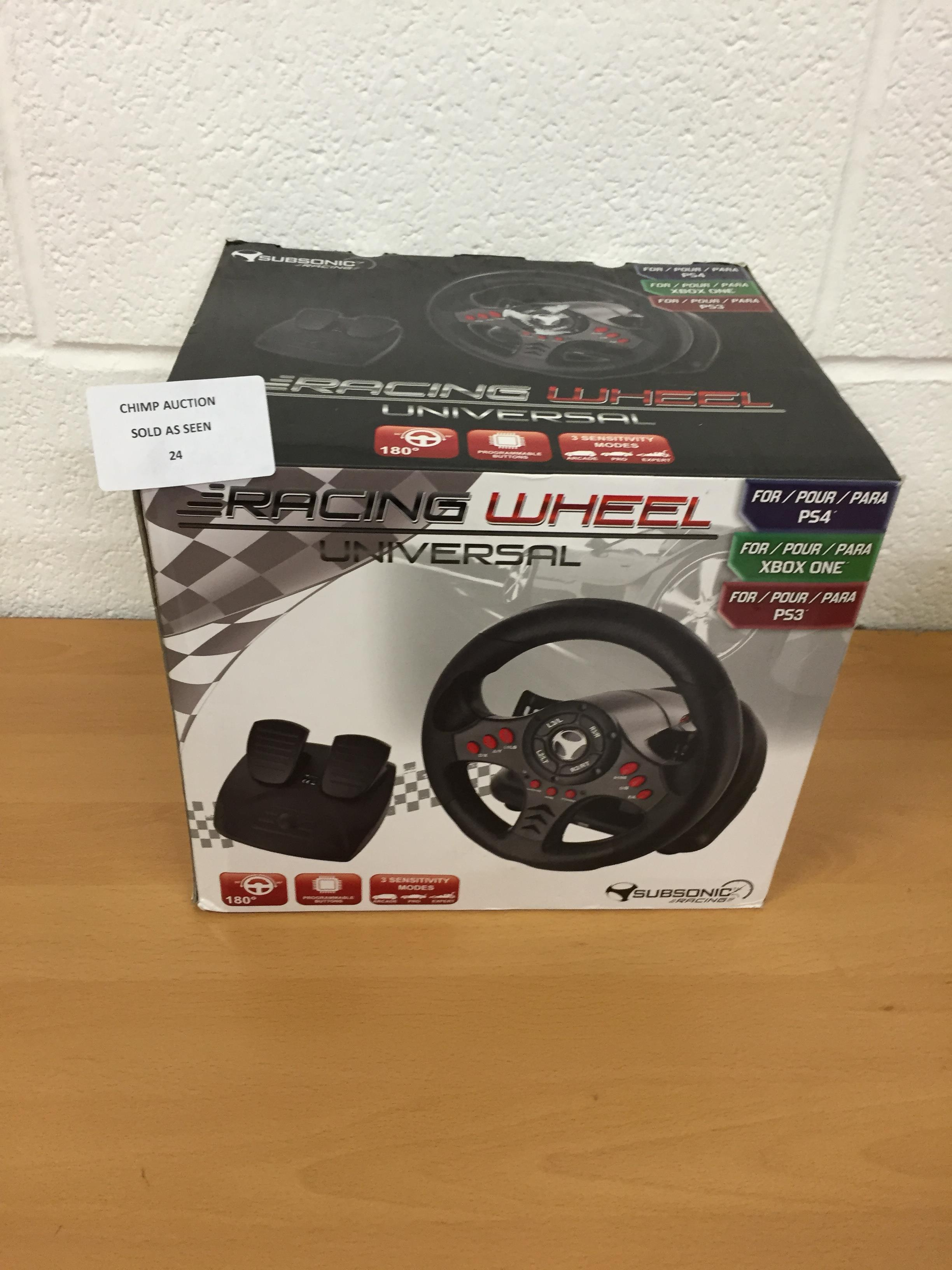 Lot 24 - Subsonic Racing Wheel Universal edition PS4, Xbox One, PS3.