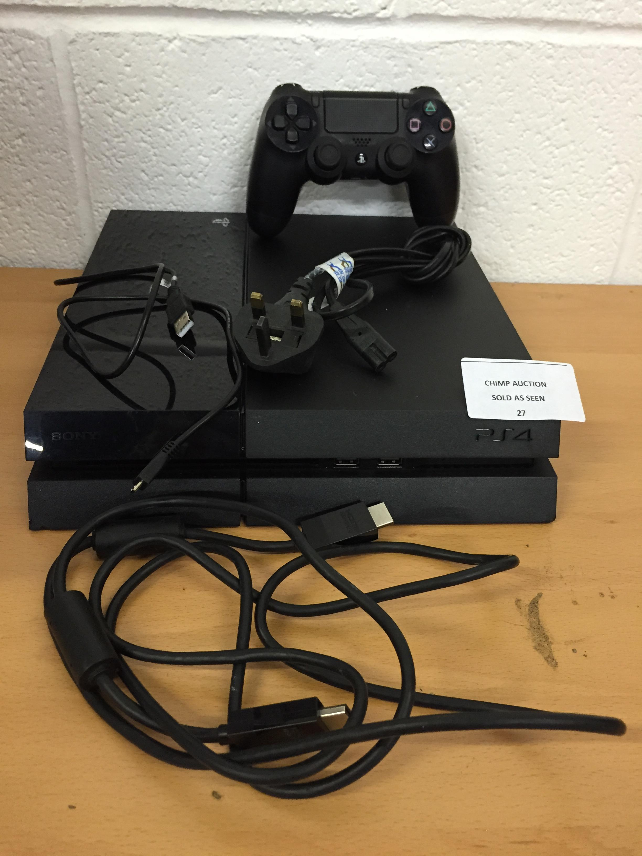 Lot 27 - Sony Playstation 4 PS4 console 500GB RRP £349.99