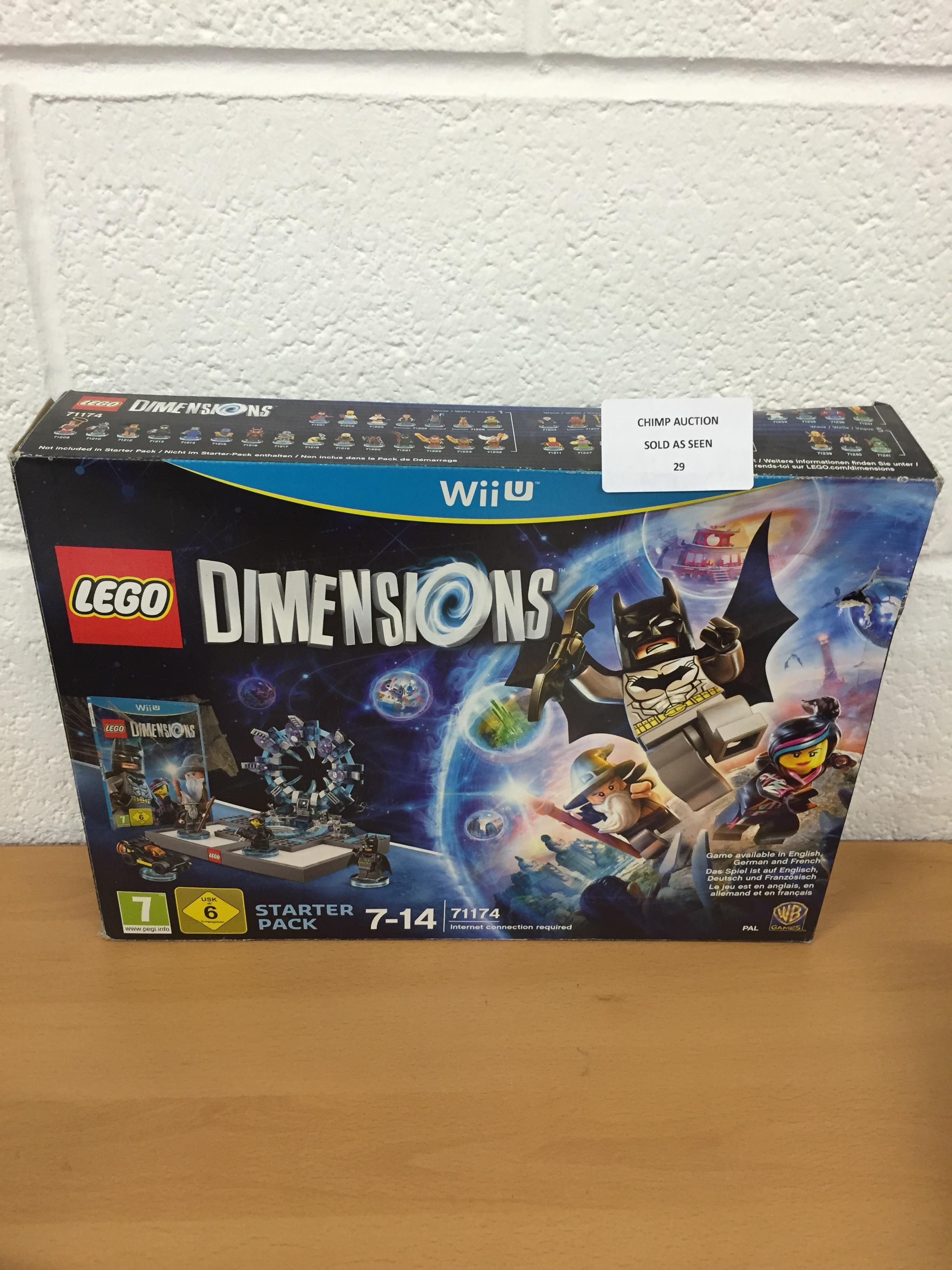 Lot 29 - Lego Dimensions Nintendo Wii U starter pack RRP £99.99.